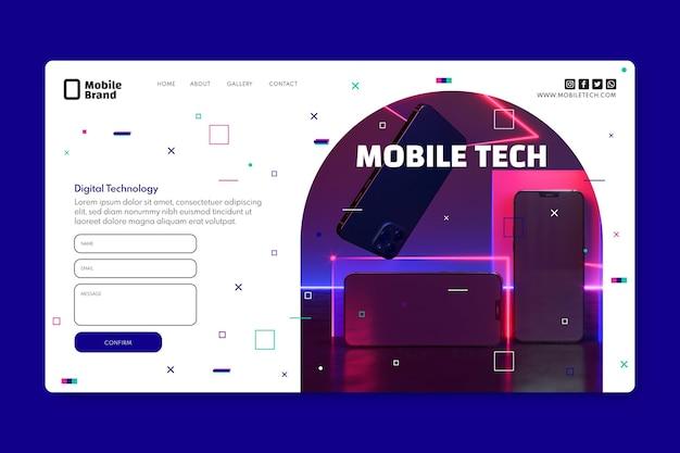 Mobile tech landing page template