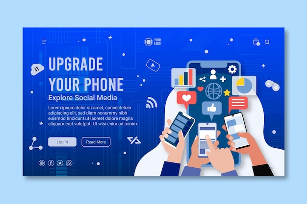 Mobile technology landing page template