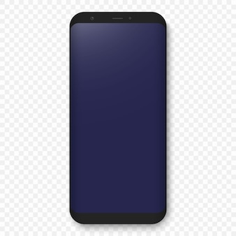 Mobile template. realistic high quality phone concept with camera.