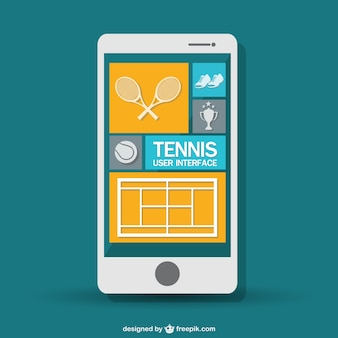 Mobile tennis game vector