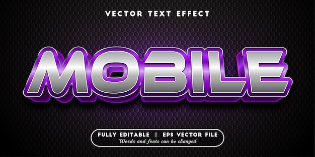 Mobile text effect, 3d text style