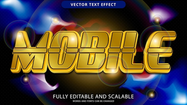 Mobile text effect editable eps file