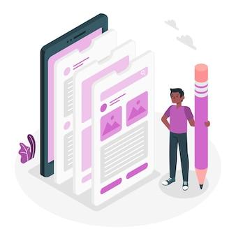 Иллюстрация концепции мобильного ux