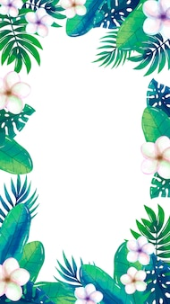 Mobile wallpaper with tropical flowers