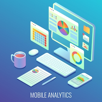 Mobile web analytics display