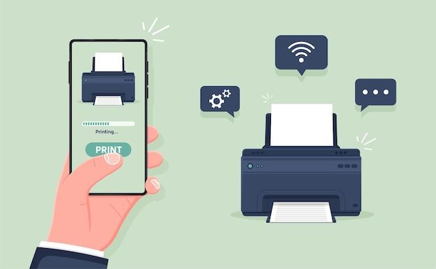 스마트폰에서 문서를 무선으로 인쇄하는 모바일 무선 인쇄 프린터