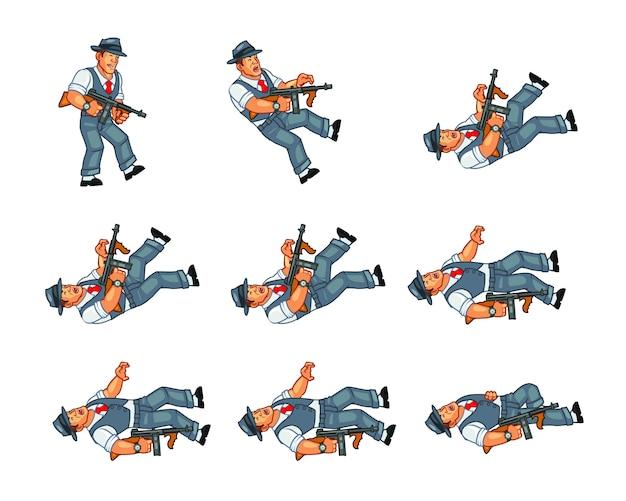 Игровой спрайт mobster gunman