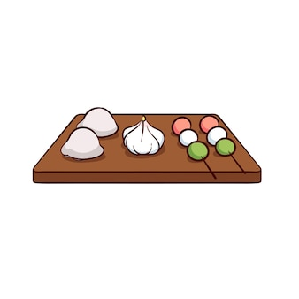 Mochi is a typical food from japan