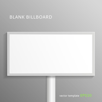 Mock up of blank billboard