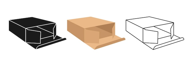 골판지 선물 상자 세트 만화를 모의