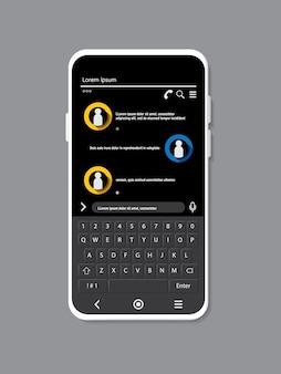 灰色の背景に白の携帯電話の色をモックアップ