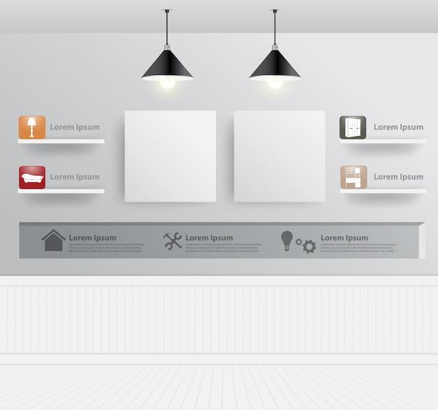 Mock up modern living room