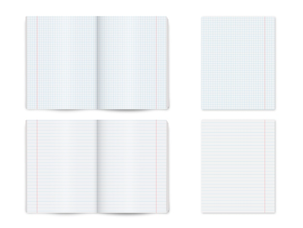 Mock up note book, notepad, book isolated