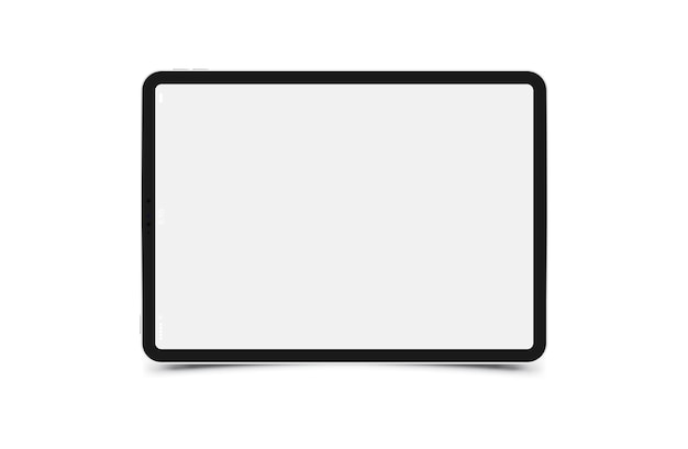 Mock-up realistic black tablet