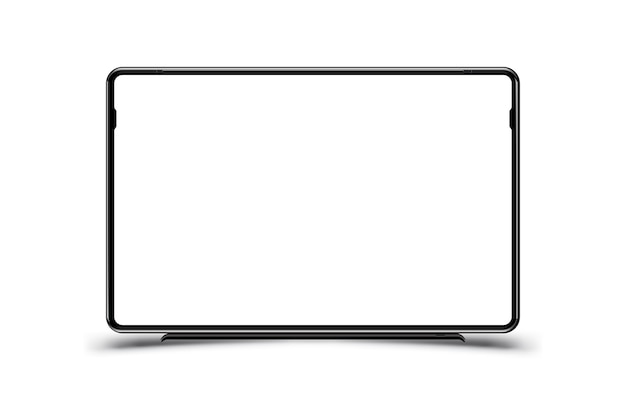Mock-up realistic black tv monitor