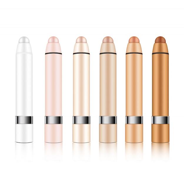 Mock up realistic cosmetic lipstick pencil