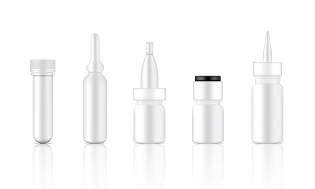 Mock up realistic cosmetic serum