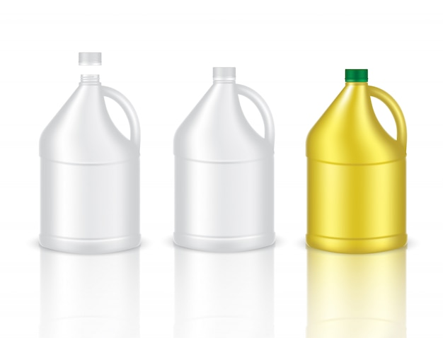 Mock up realistic plastic bottle gallon packaging product