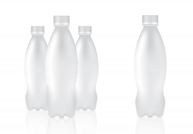 Mock up realistic plastic bottle packaging product