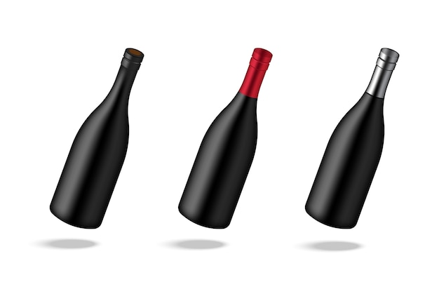 Mock up realistic premium wine alcohol bottle background