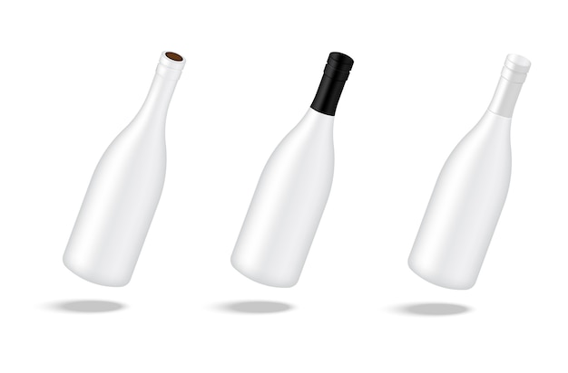 Mock up realistic wine alcohol bottle background