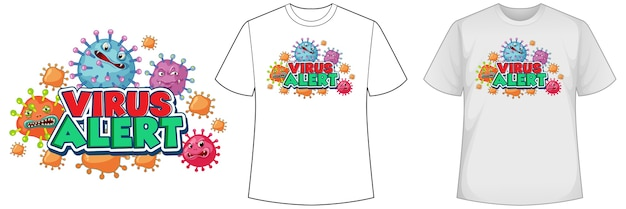 コロナウイルスのアイコンが付いたシャツのモックアップ