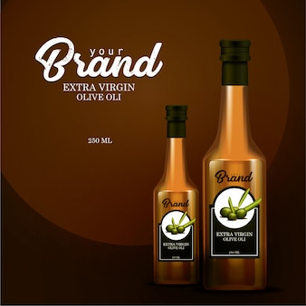 Mock-up template bottle