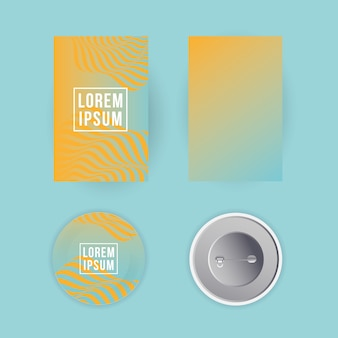 Mockup a4 posters papers and pins design of corporate identity template and branding theme