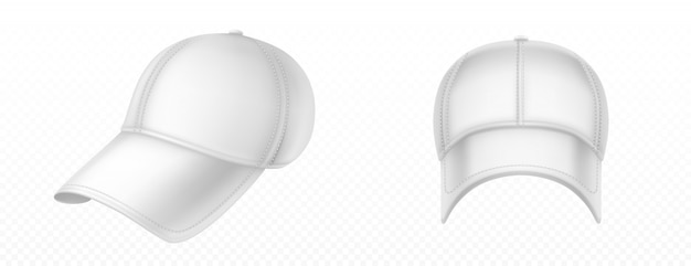 Mockup of blank white baseball cap