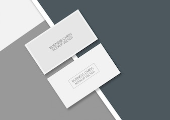 Mockup business cards  mockup vector