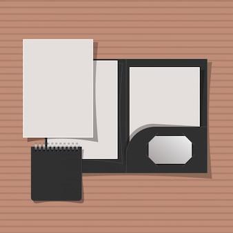 Макет папки и блокнота