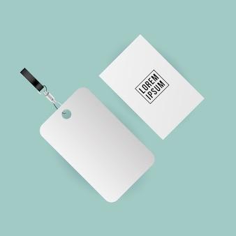 기업의 정체성 템플릿 및 브랜딩 테마의 모형 라벨 및 카드 디자인