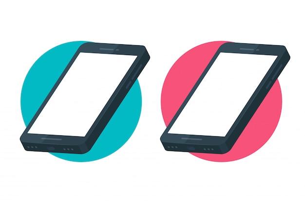 Mockup mobile phone 스마트 폰에서 응용 프로그램 화면을 디자인합니다.