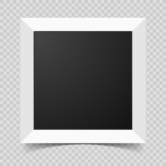 Mockup modern frame for photo or pictures with shadow. realistic empty paper frame. vector illustration isolated on transparent background