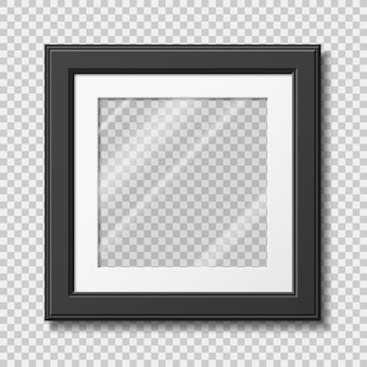 Mockup modern frame for photo or pictures with transparent glass
