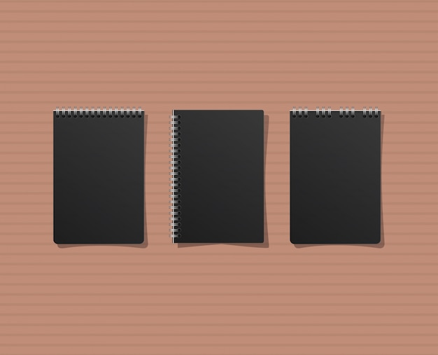 Mockup notebooks set