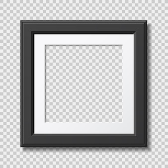 Mockup realistic modern frame for photo or pictures with shadow isolated on transparent background