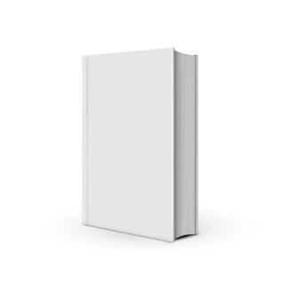 Mockup white book realistic on the white