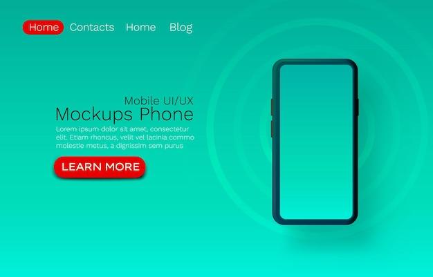 モックアップ ui テンプレート、web サイトのバナー アプリ画面。