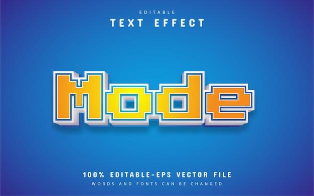 モードテキスト、ピクセルスタイルのテキスト効果