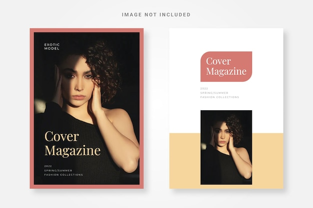 Model cover magazine design template