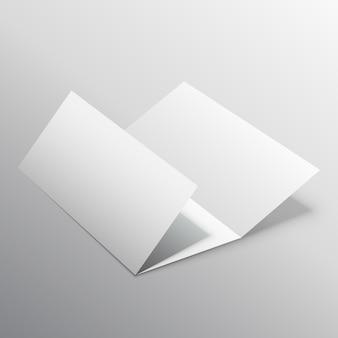 ベクトルつ折り3dモックアップデザイン