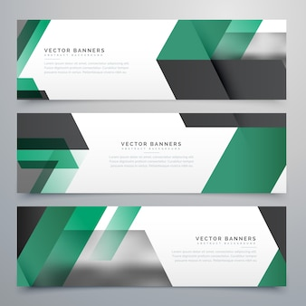 Moden business banners background