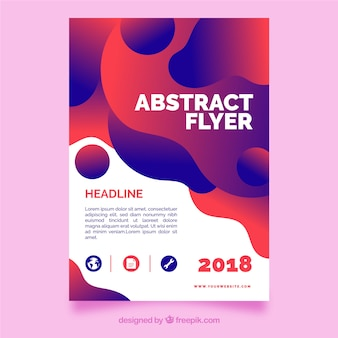 Moden flyer template with abstract design