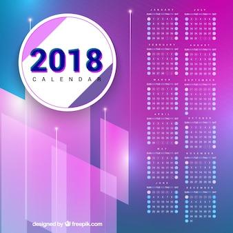 Moderno calendario 2018 in viola