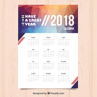 Modern 2018 calendar