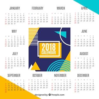 現代の2018カレンダー