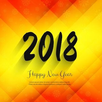 Modern 2018 new year colorful background