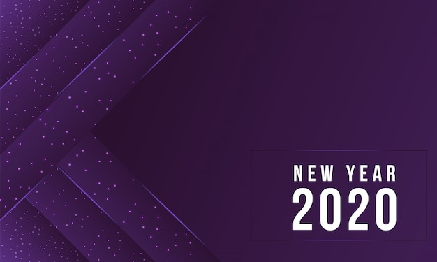 Modern 2020 new year purple abstract background