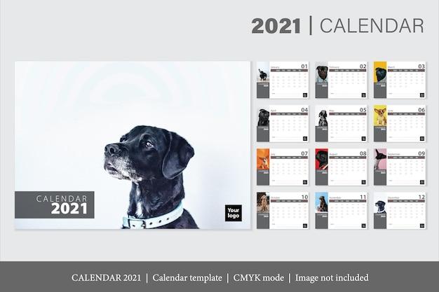 Modello di calendario moderno 2021
